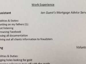 Dad writes brutal CV for daughter