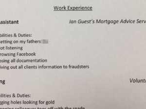 Dad writes brutal CV for daughter