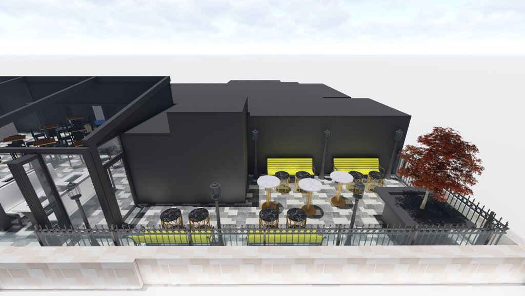 SNEAK PEEK: Concept art showing the design of George Banks, Toowoomba's newest rooftop bar on the intersection of Ruthven and Margaret Sts.