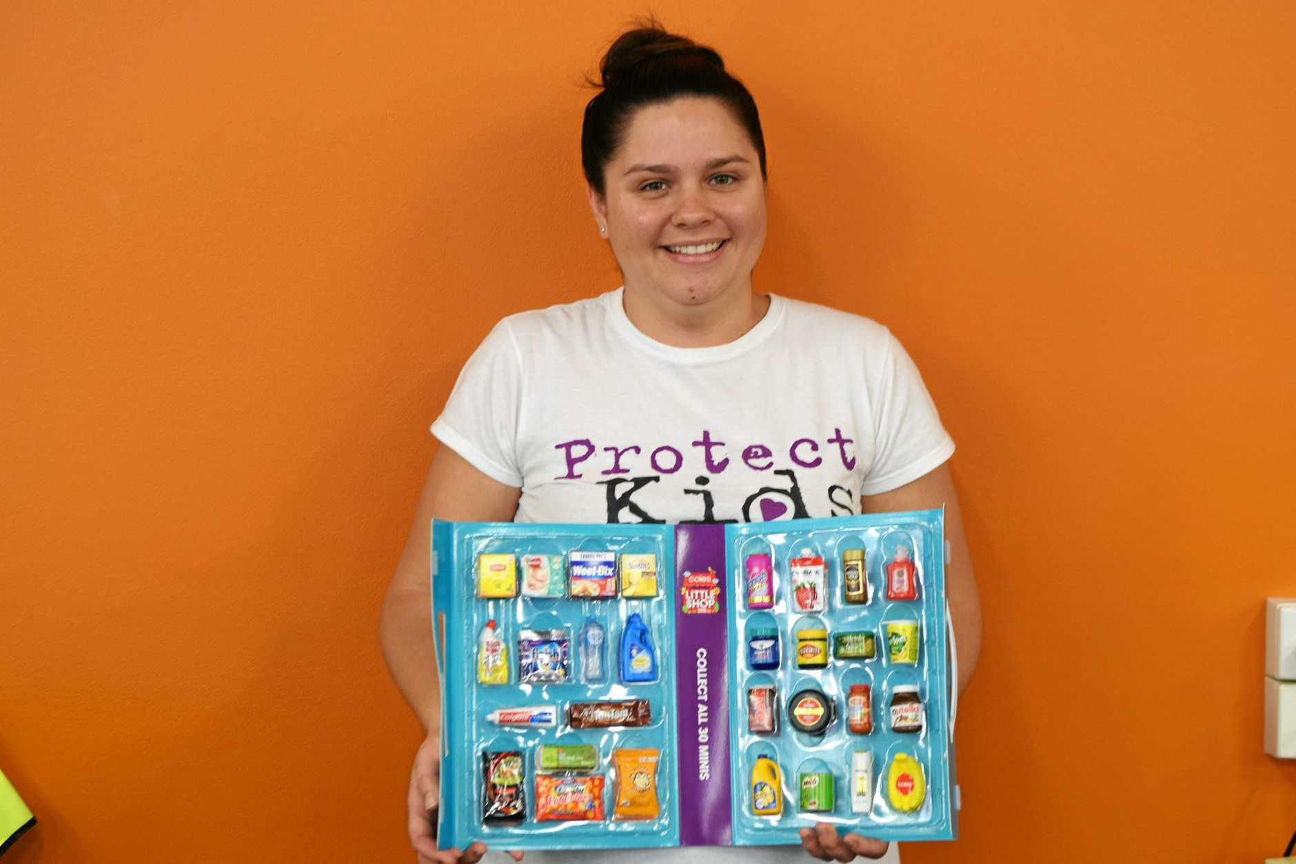 Sinead Lynch with her Coles little collectibles.