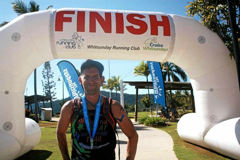 LOCAL WINNER: Justin Knight-Gray came in first in the 10.5km Honeyeater trail run. S