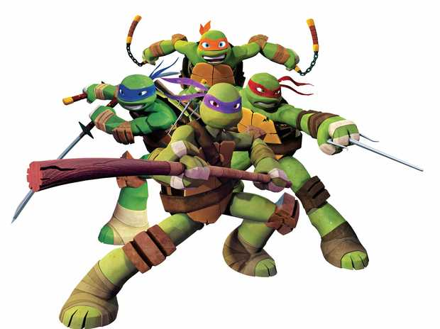 The characters from the new animated series of Teenage Mutant Ninja Turtles. Supplied by Nickelodeon Australia.
