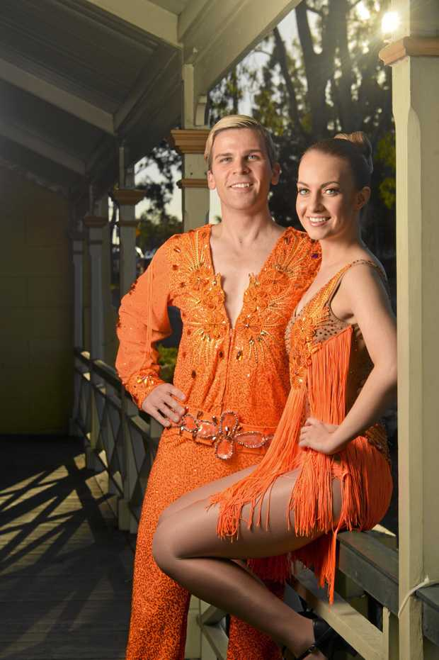 Ipswich Musical Theatre will be presenting Strictly Ballroom on stage. Annabelle Harbison and Brendan Dieckmann.