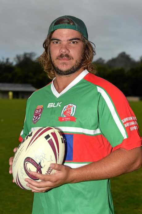 Nambour Crushers Rugby  League team ready for the new season. Captain Mitch Ward Photo: Warren Lynam / Sunshine Coast Daily