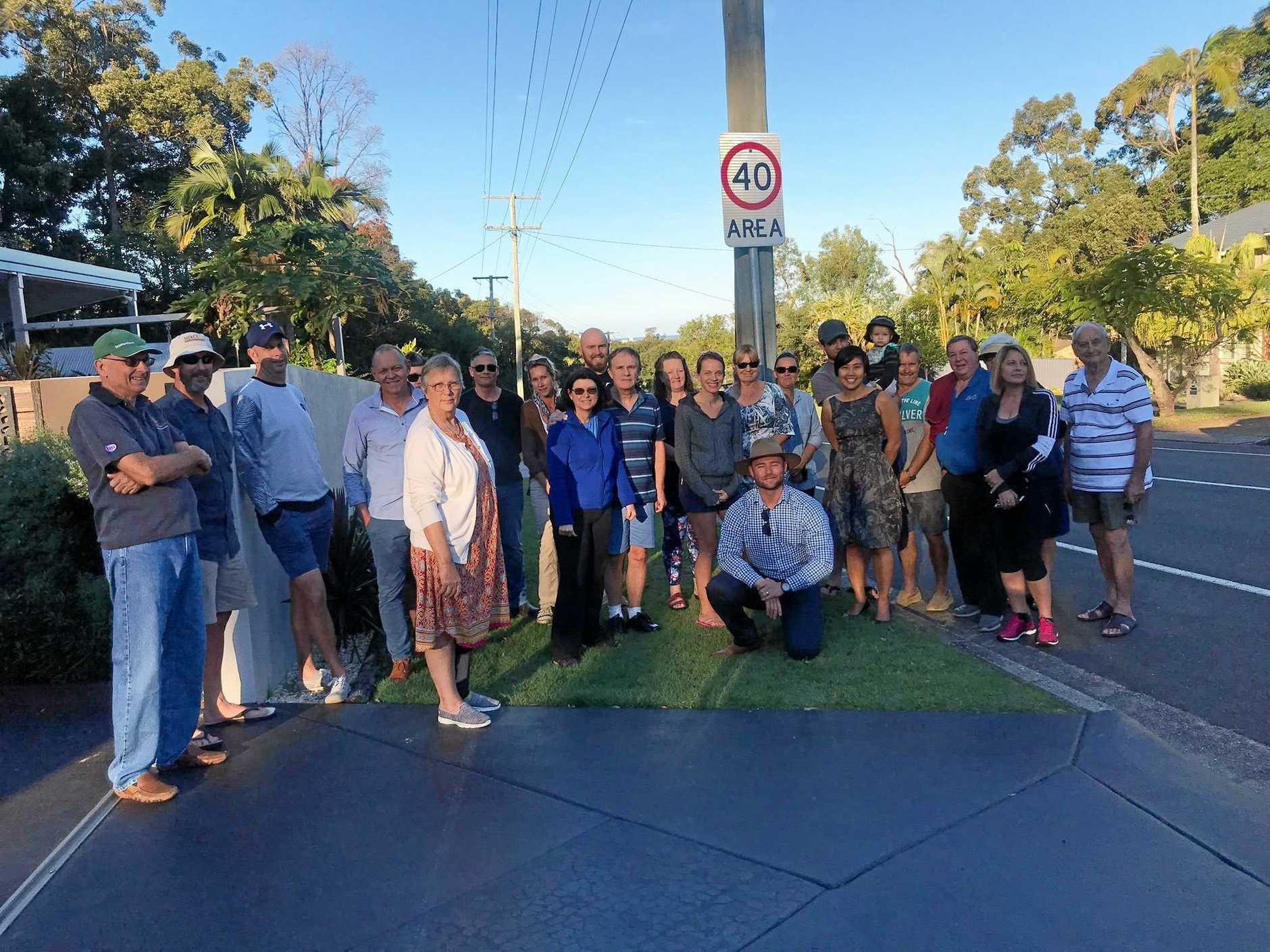 Karawatha St residents met with divisional councillor Christian Dickson to air frustrations over ongoing speeding in their residential street.