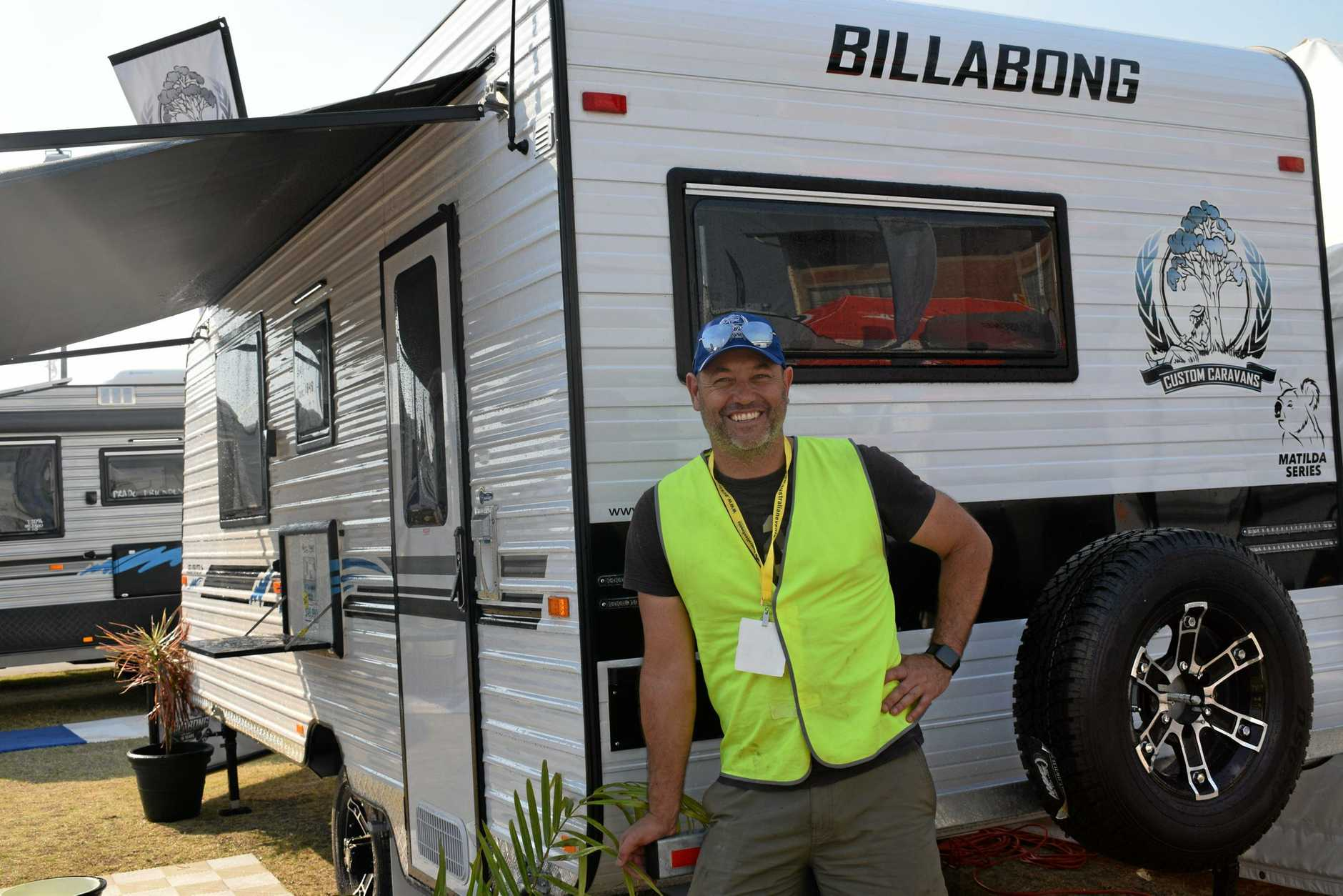 ROCKHAMPTON EXPO; Kent Smith from Billabong Caravans has traveled from Burleigh Heads to be at this year's expo.