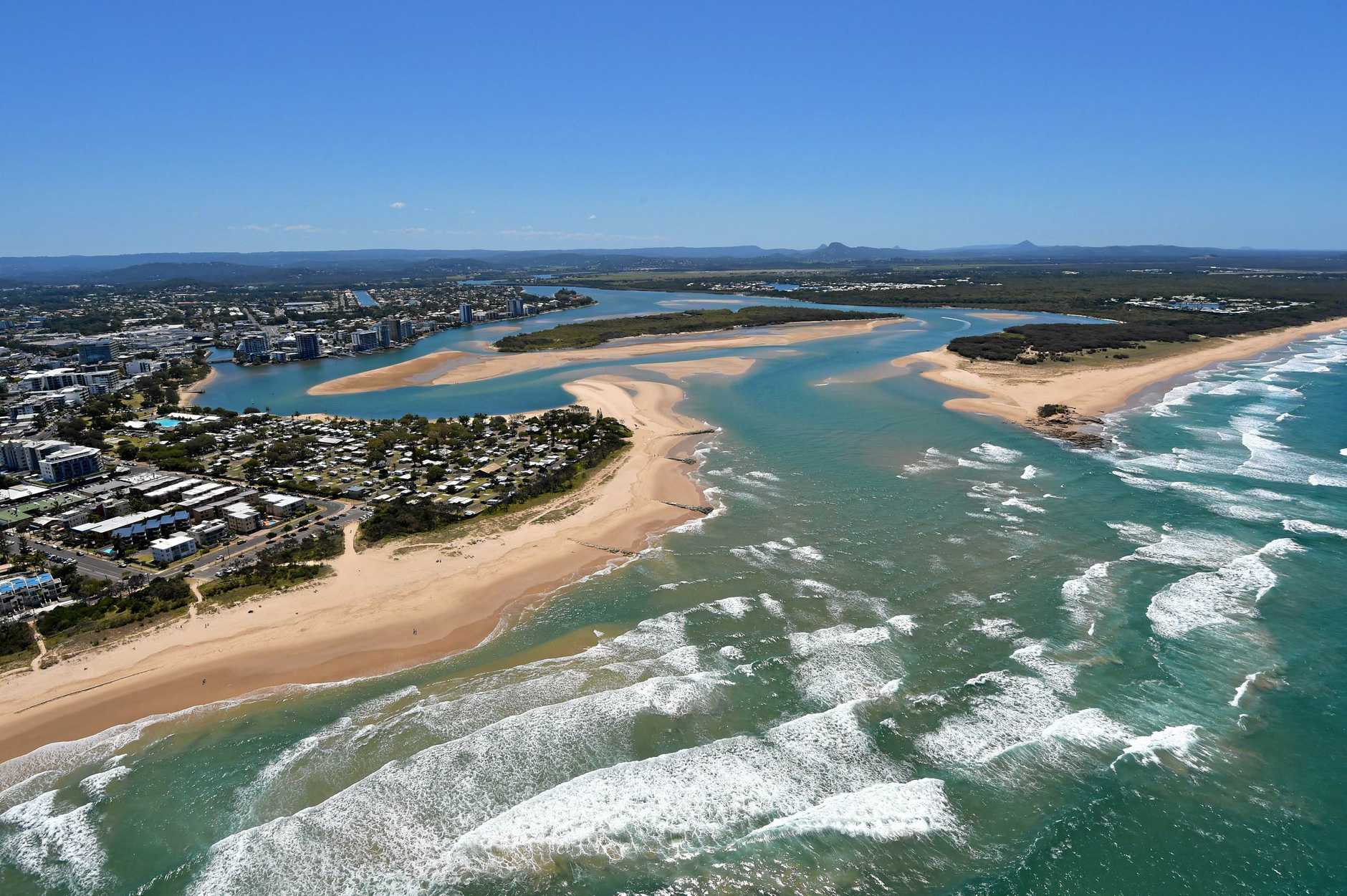 The Maroochy River mouth.