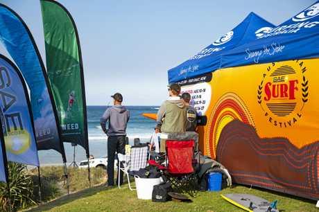 Australian Surf Festival set-up at Caba.