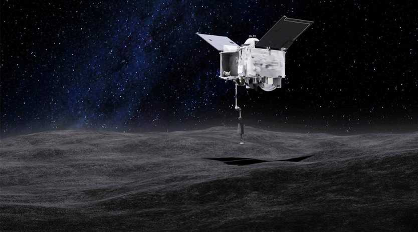 The OSIRIS-Rex space probe will 'poke' the asteroid Bennu in order to gather a sample of soil, ice and pebbles to bring back to Earth. Picture: NASA
