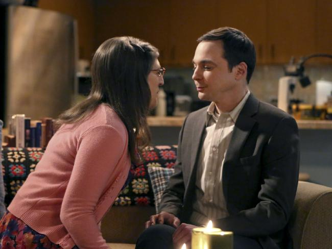 Amy (Mayim Bialik) and Sheldon (Jim Parsons). Picture: Getty Images