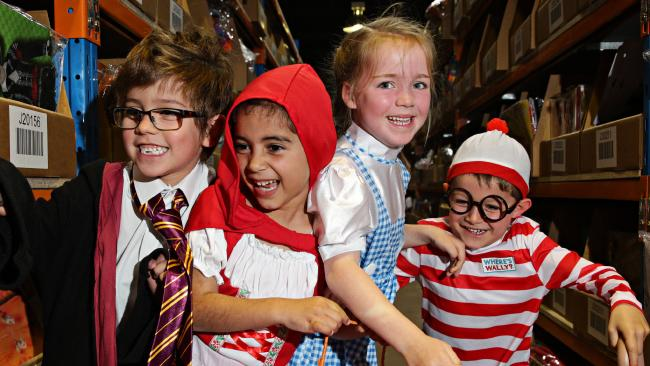 Students from schools all over the country take part in Book Week, with students encourage to dress as characters from books. File picture