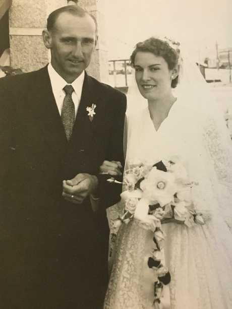 Len and Marlene Faulkner (nee Hunt) were married in Yeppoon on August 23, 1958.