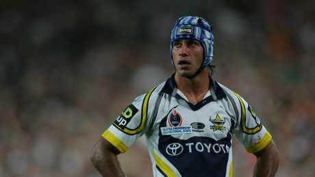 02 Oct 2005 NRL Grand Final - Wests Tigers vs Nth Qld Cowboys at Telstra Stadium. Johnathan Thurston. PicBrett/Costello sport rugby league action hands on hips