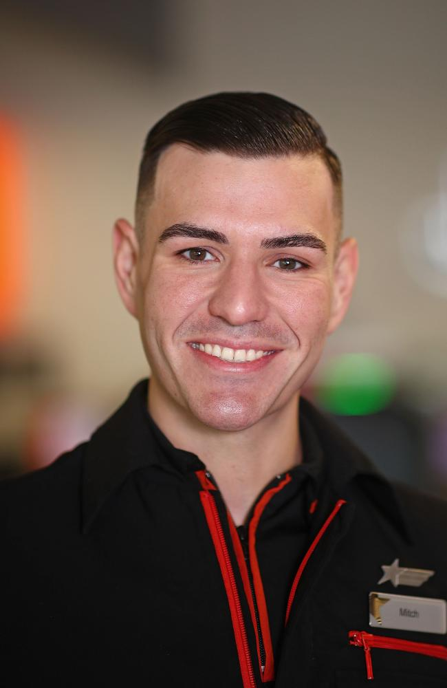 Jetstar flight crew member Mitchell Guillot. Picture: Jetstar