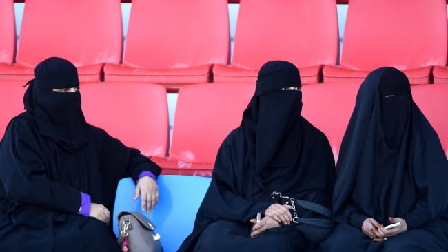 Saudi women watching a horse race in the capital Riyadh. Picture: AFP / FAYEZ NURELDINE