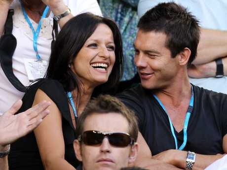 Maylea Tinecheff and Ben Cousins at the 2010 Australian Open.