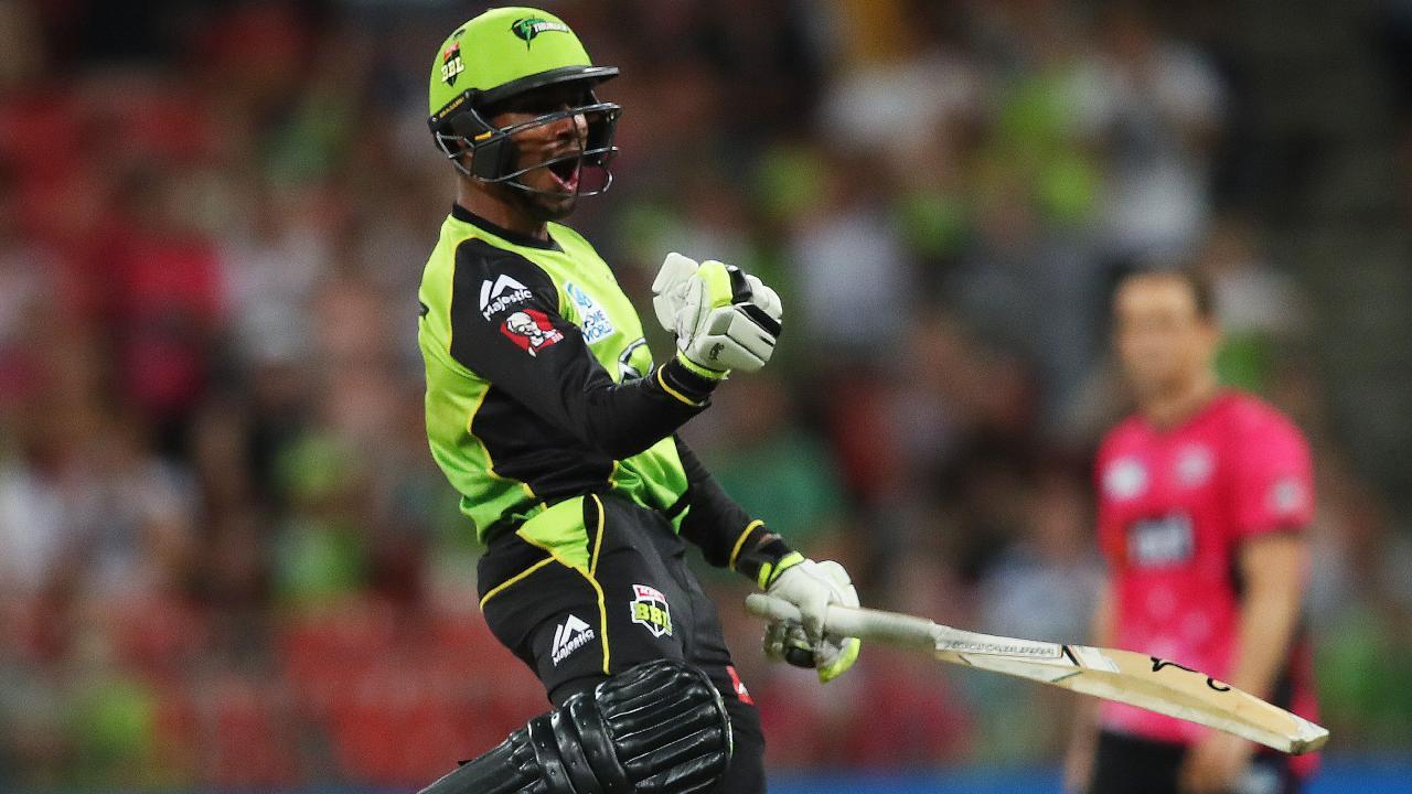 Arjun Nair impressed with the bat for Sydney Thunder.