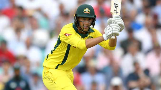 Ashton Agar top-scored in a modest Australia A total in India. Picture: Gareth Copley/Getty Images