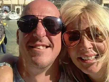 Craig Rayment, 43, with 46-year-old girlfriend Kay Longstaff, who was plucked alive from the Adriatic Sea after plungeing from a cruise ship in Croatia. Picture: Facebook