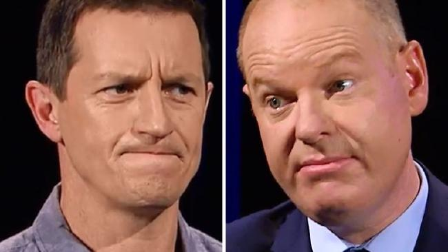 Rove McManus went head-to-head with Tom Gleeson on Hard Chat.