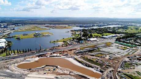 DRONE: Bokarina Beach development along Nicklin Way, Sunshine Coast.