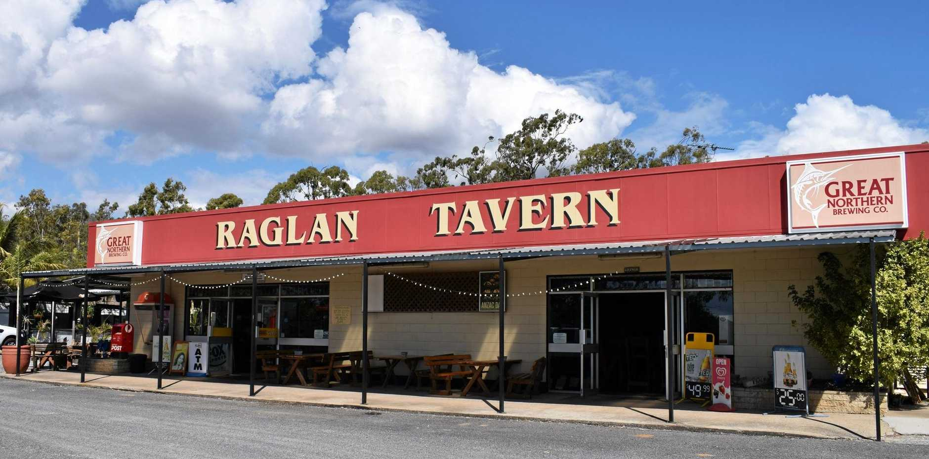 Business at the Raglan Tavern has been affected by ongoing roadworks for the past two years.