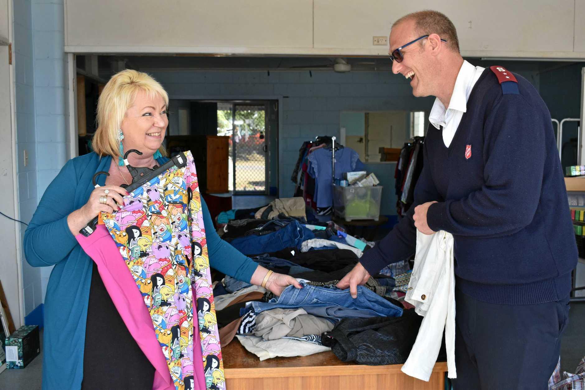 TEMPORARY HOME: The Salvation Army's Dianne Castledine and Craig Harlum.