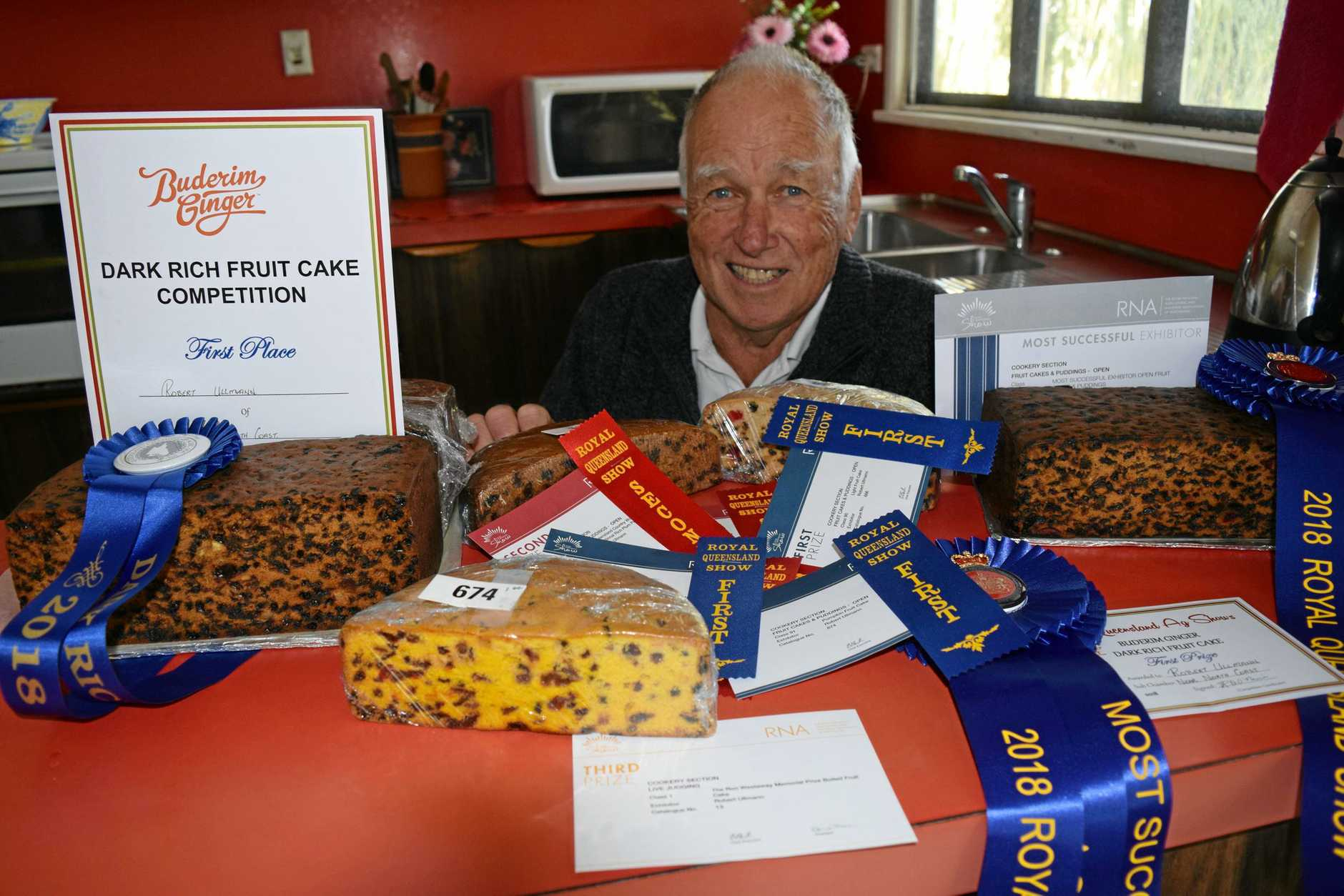 Maryborough cook Robert Ullmann received a placement in every cooking entry at this year's Brisbane Ekka.