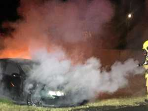 WATCH: Dramatic video of late night car fire at East Lismore