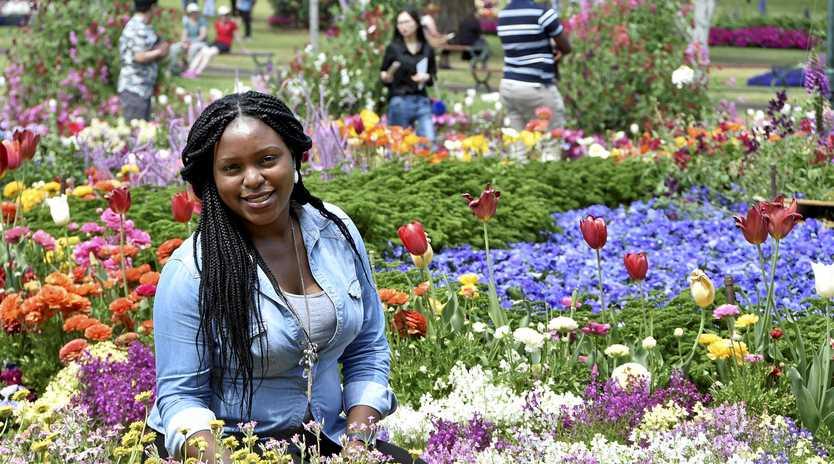 Muma Bwalya in the Botanic Gardens, Queens Park.