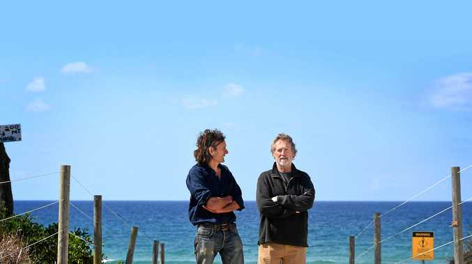 COMMUNITY CONCERN: Gyan Moyes and Richard Burford, of Tyagarah, are concerned with the level of predatory behaviour in and around the clothes optional beach at Tyagarah.