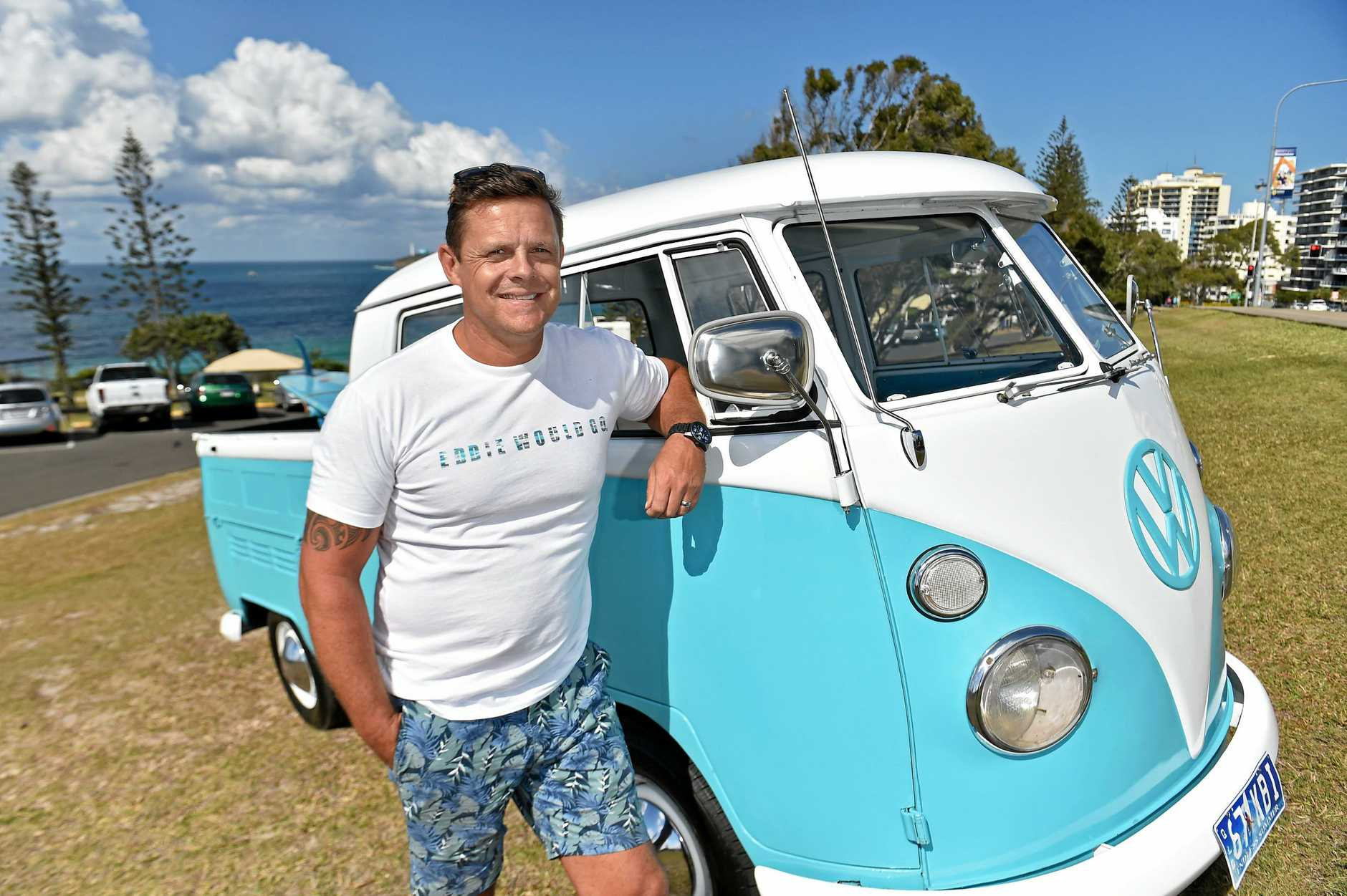 Jason New with his 1967 Kombi Dual Cab.