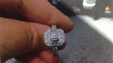 The $106,370 pink Argyle diamond ring, which was pawned at Cash Converters.