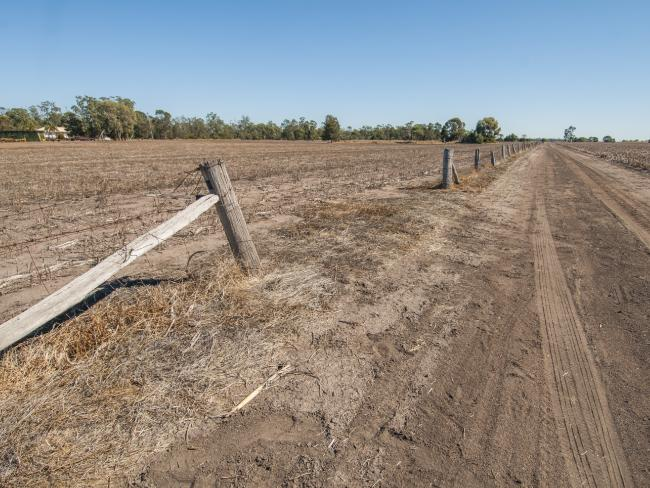 Dalby paddocks lay fallow for winter. Picture: David Martinellli