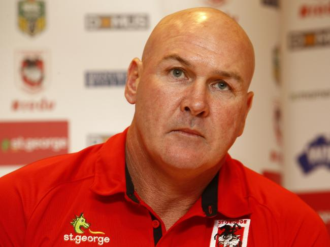 St George Illawarra Dragons Coach Paul McGregor failed a breath test on the morning of Sunday in April 2016. Picture: John Appleyard