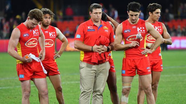 It's been a tough year for Stuart Dew and the Suns. Picture: AAP Images