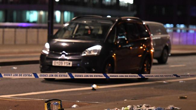 The aftermath of the attack on London Bridge in June last year. Picture: AFP