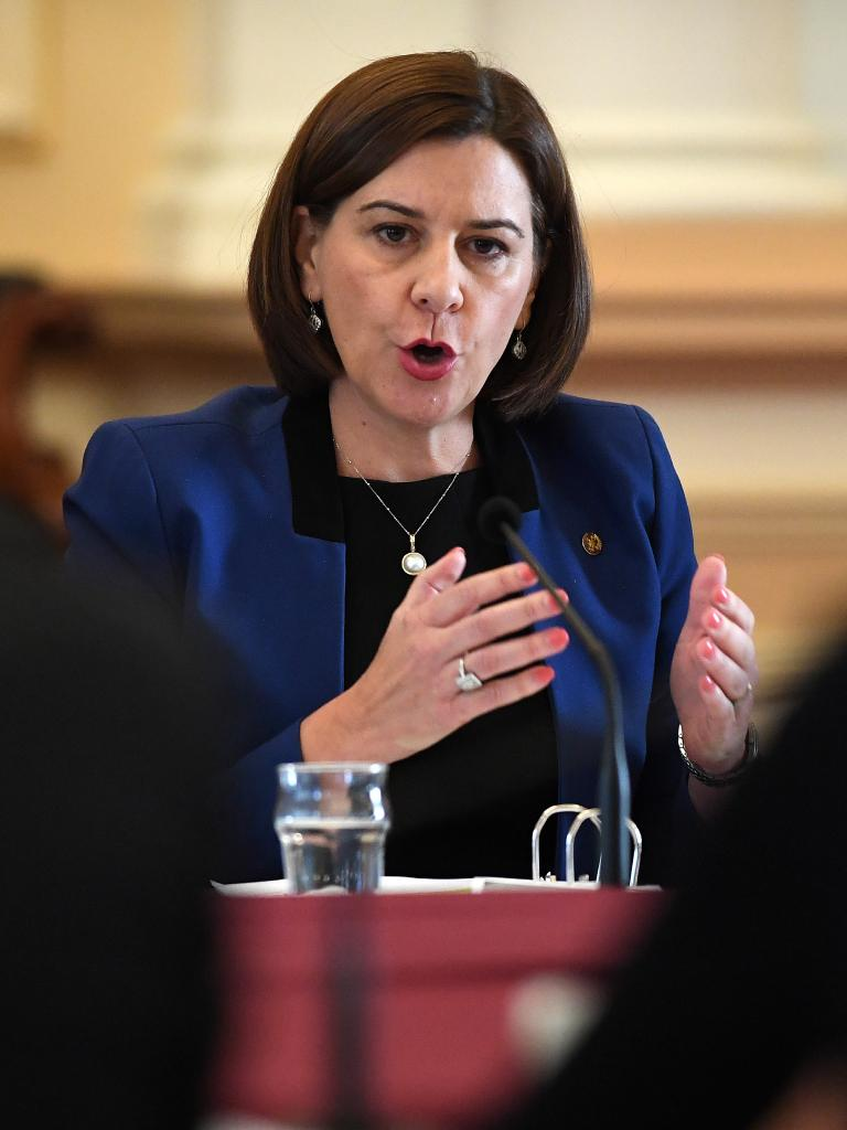 Queensland Opposition Leader Deb Frecklington during an Estimates Hearing at Parliament House. Picture: AAP/Dave Hunt