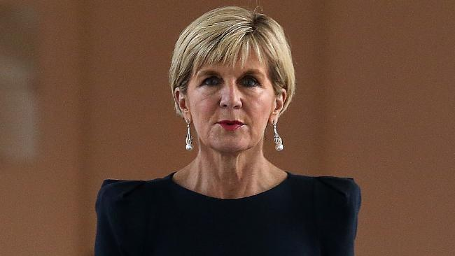 Julie Bishop should feel robbed by what took place in Canberra today. Picture: Kym Smith