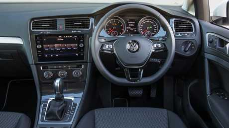 The Volkswagen Golf has a more upmarket interior. Picture: Mark Bean.