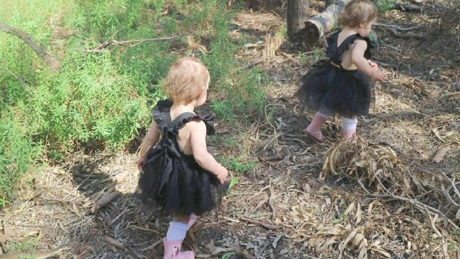 Stacee Carter took this happy snap of her children on a bushwalk near Mildura. She soon realised there was a deadly element to the photo.