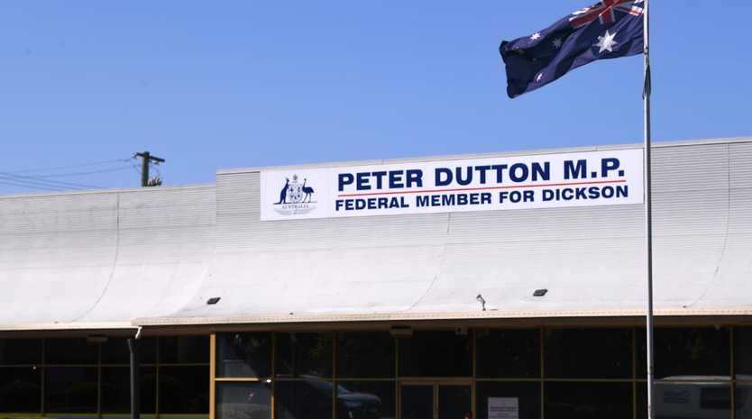 T office of Federal Member for Dickson, Peter Dutton at Strathpine. Picture: AAP Image/Dave Hunt