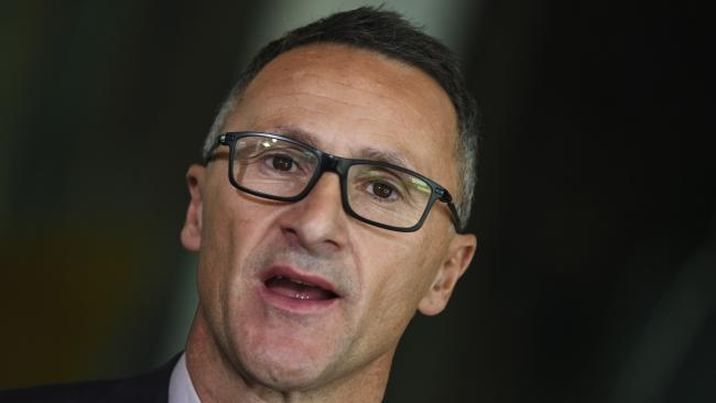 "Australian greens leader Senator Richard Di Natale has described the nation as an ""international embarrassment"". Picture: AAP /Lukas Coch."