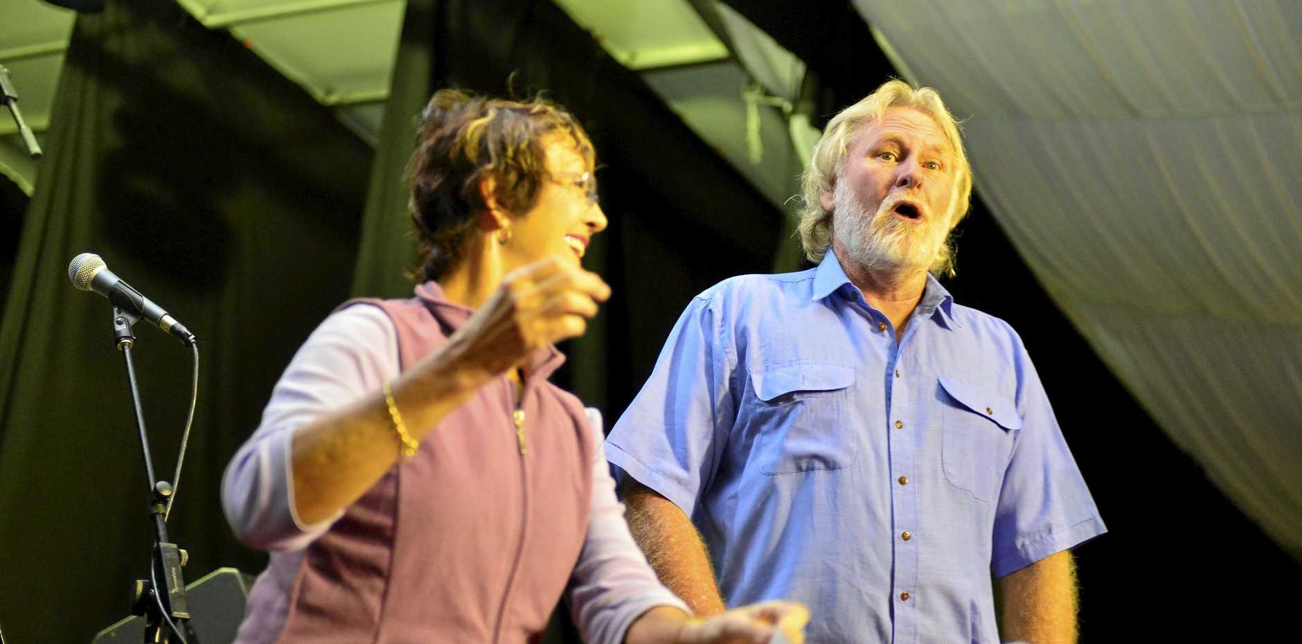 SING IT: Men of Gladstone, it's your chance to tread the boards.