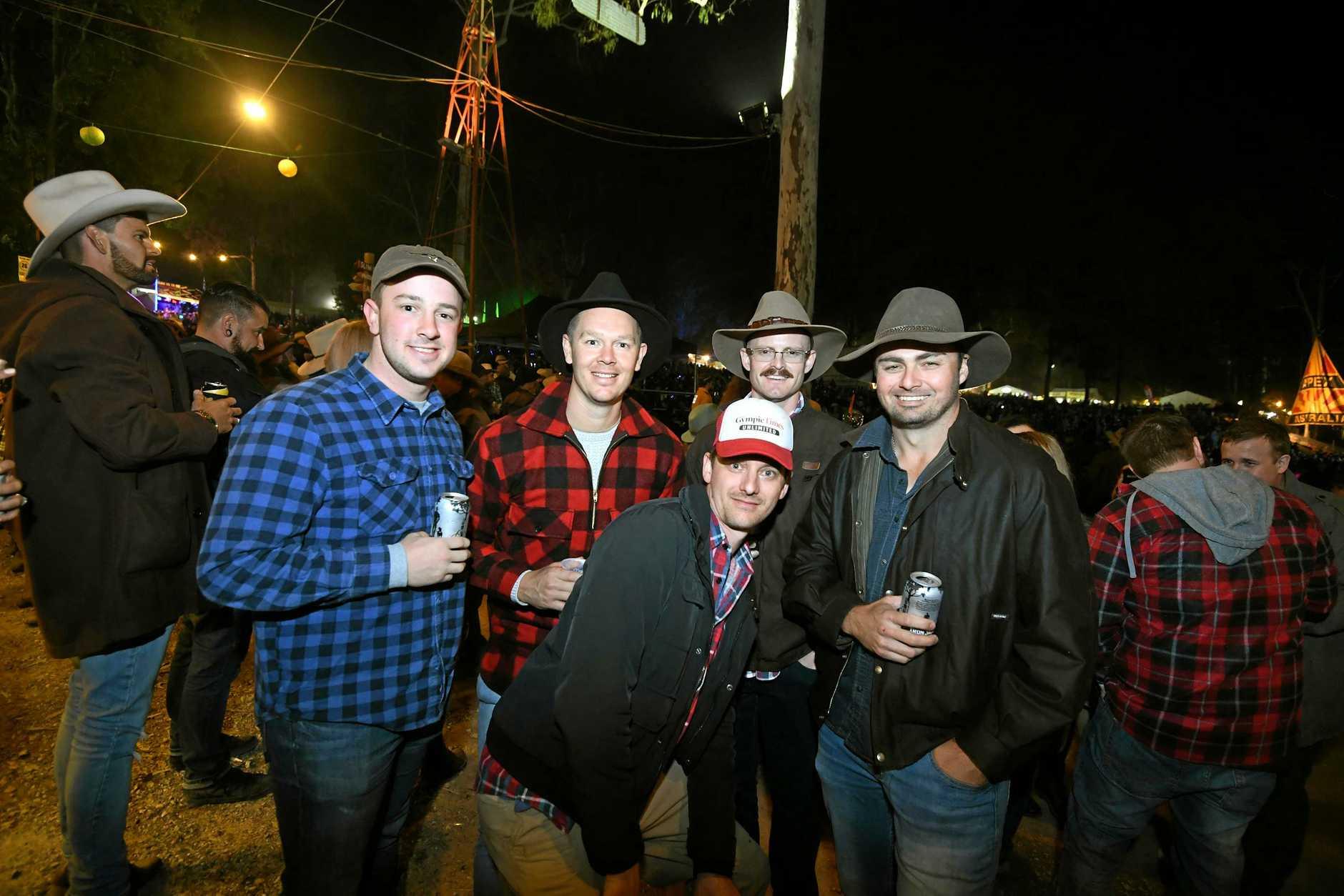 Gympie Muster 2018 Hayden Trask, dan Mcmahon, Rohan Loard, Amthony Zipf (front) Jack Daniel