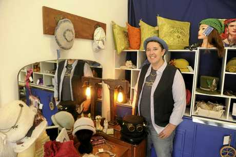 Vintage Soul Designs Nicole Mussett with the creations of Kerryn Muir in their new store in Ulmarra.