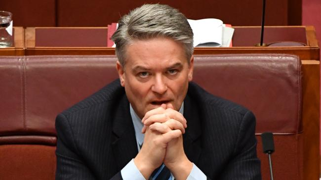 Former minister for finance Mathias Cormann delivered his resignation on Thursday. (Pic: AAP/Mick Tsikas)