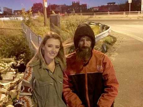 Homeless man Johnny Bobbitt gave Kate McClure his last $20 when her car ran out of petrol.
