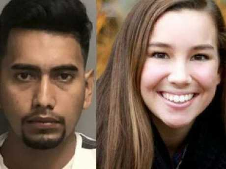 The accused, Cristhian Rivera and Mollie Tibbetts.