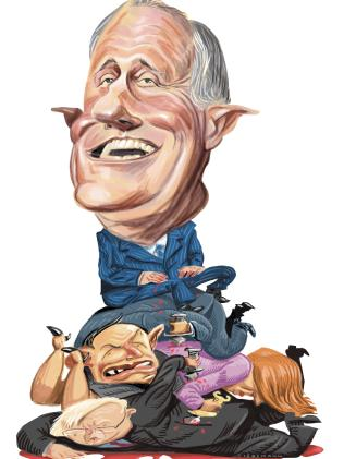 John Tiedeman illustration of Malcolm Turnbull